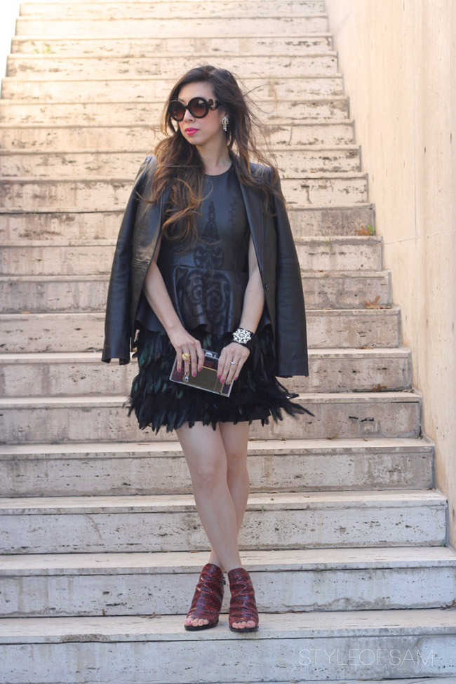 Style Rx // Leather and Feathers