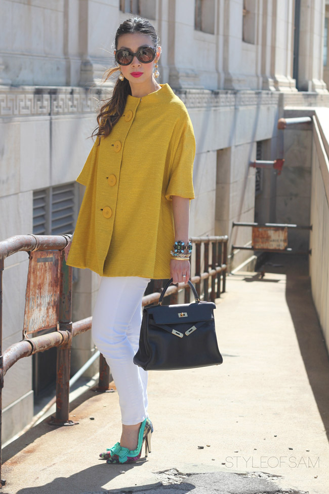 From Grandma with Love // Yellow Swing Jacket