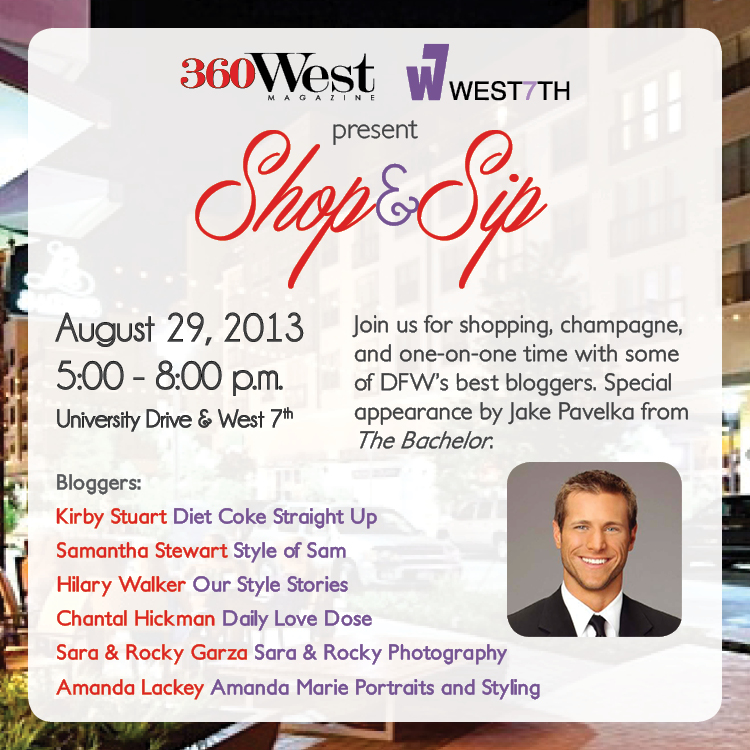 Join Me at the 360 West Shop & Sip