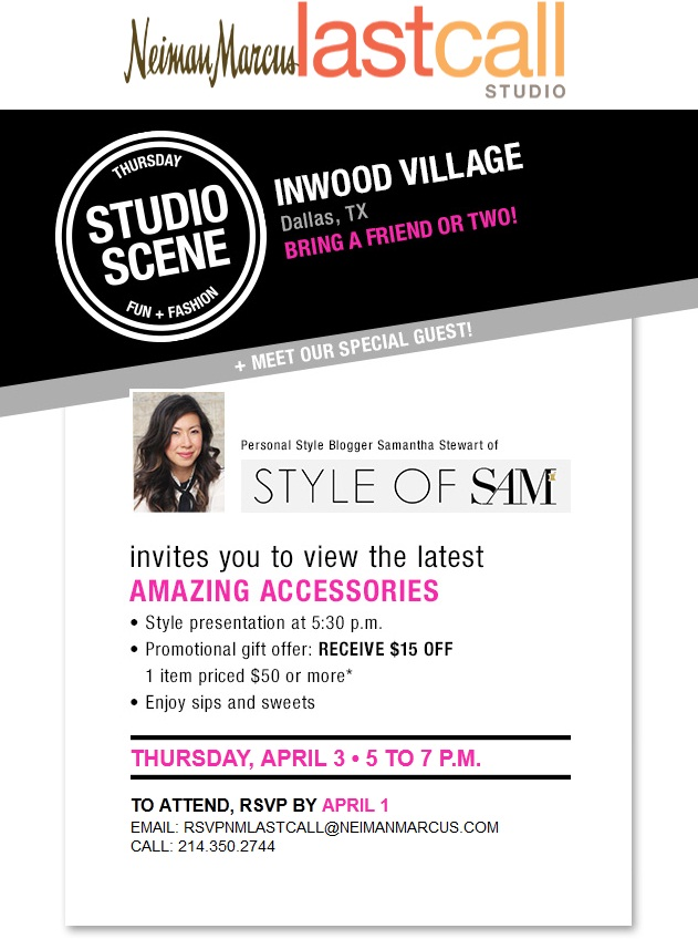 Style of Sam, Studio Scene at Last Call Neiman Marcus Inwood Village