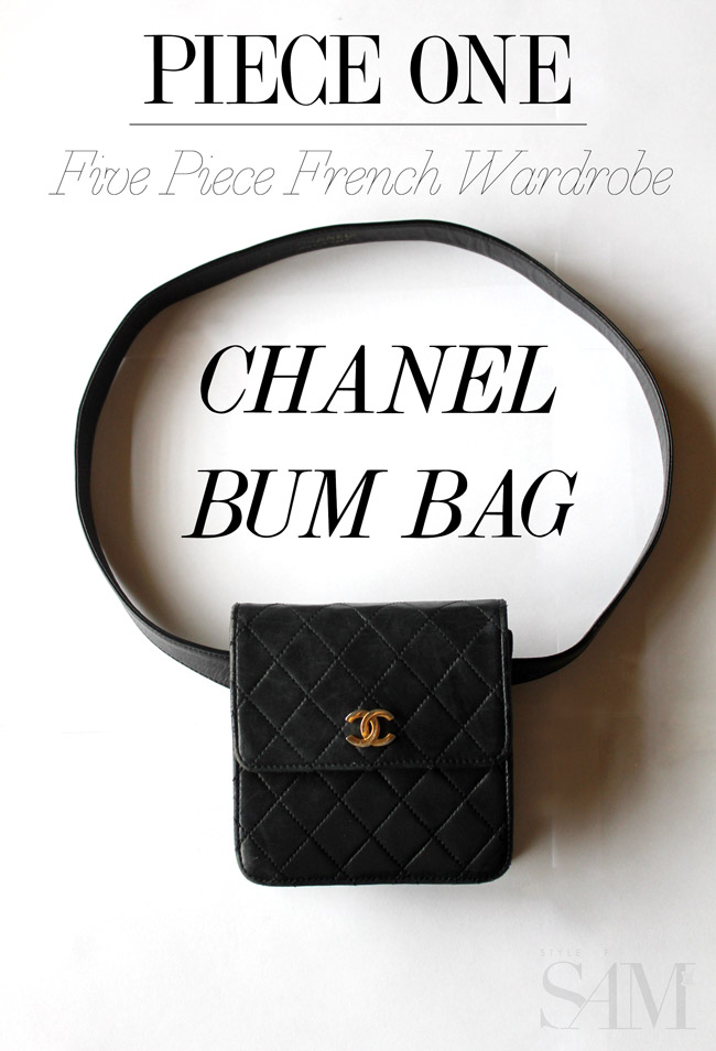 style of sam, five piece french wardrobe, chanel bum bag, chanel waist bag
