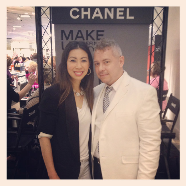 style of sam, chanel global makeup artist john fussell, nordstrom spring beauty trend event 2014