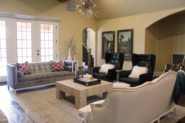 Modern French Provincial Living Room