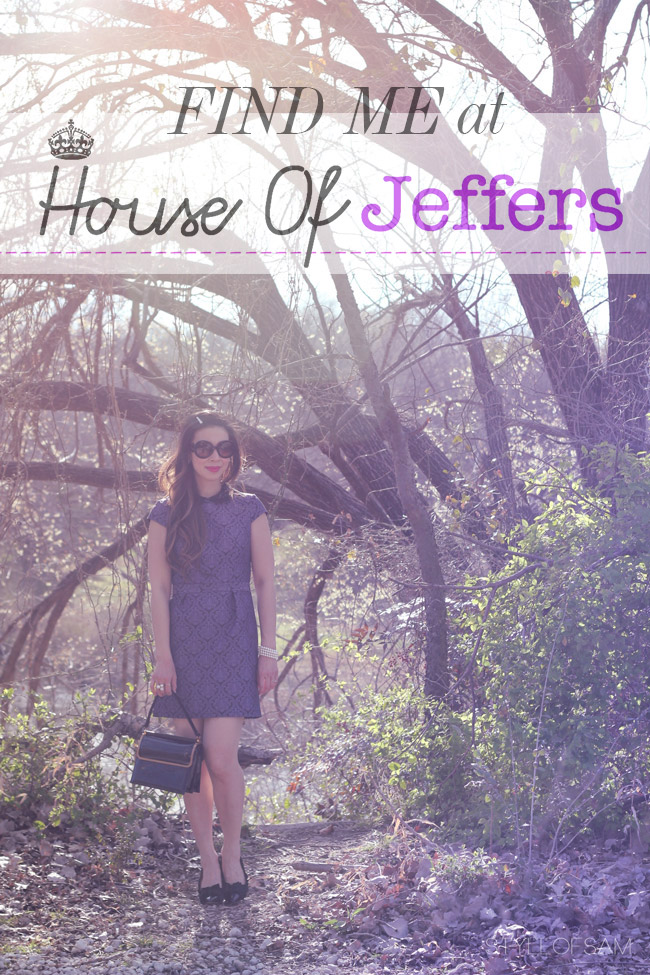 style of sam, warehouse jeweled jacquard dress, house of jeffers guest post