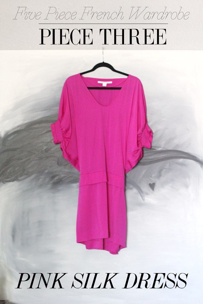 Piece Three // DVF Pink Silk Dress