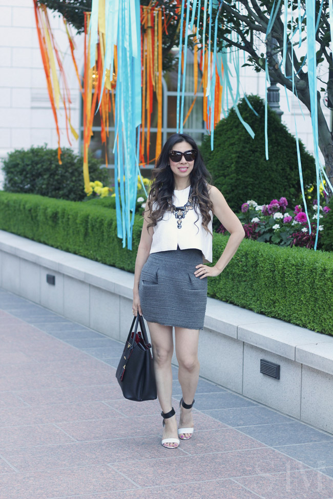 style of sam, alt summit summer 2014, how to wear a crop top, monochromatic ootd