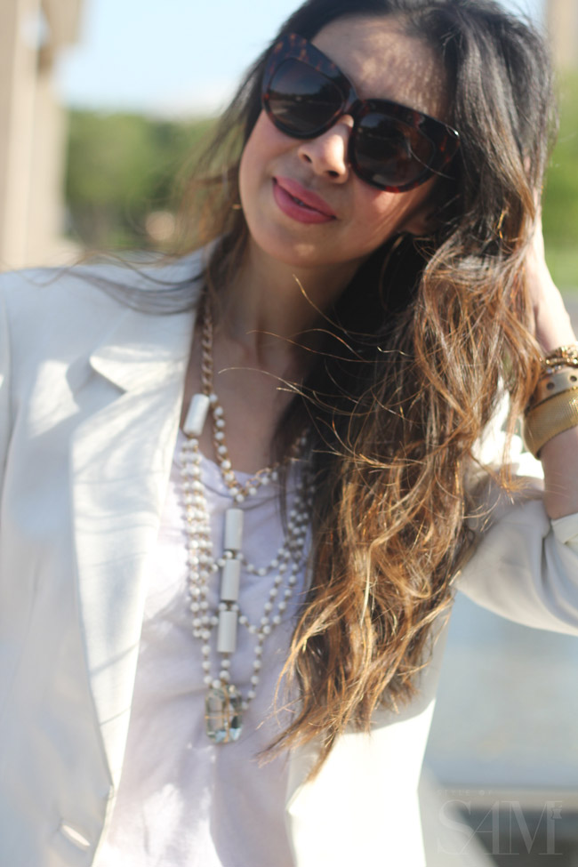 style of sam, white blazer, dressy casual outfit, how to wear boyfriend jeans