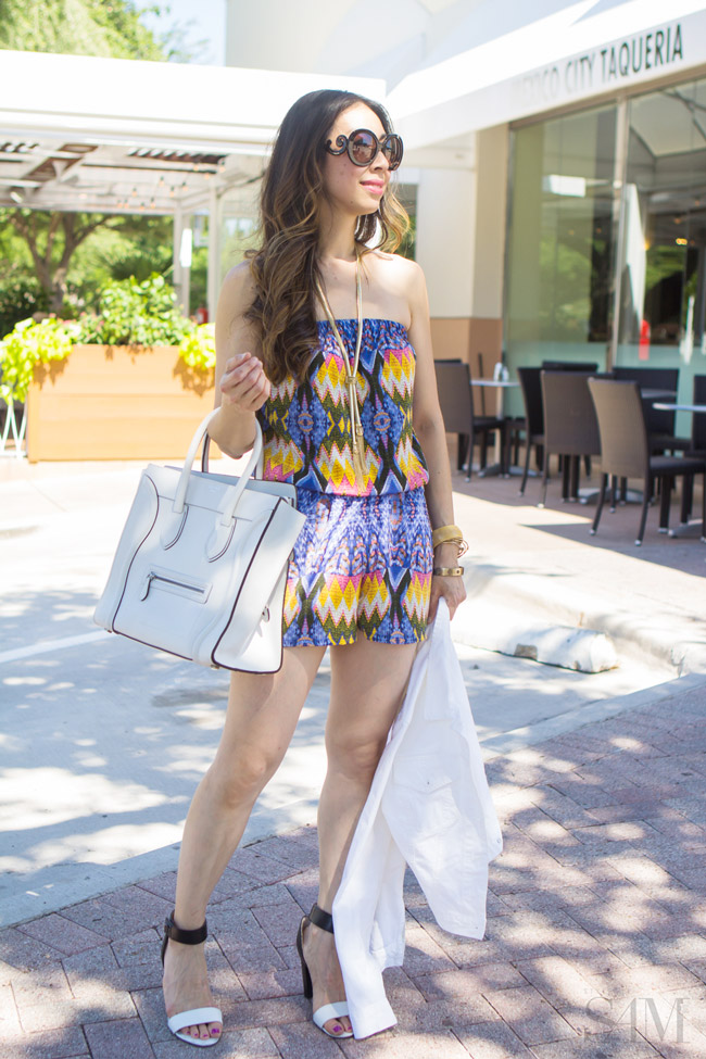style of sam, katydid aztec romper, how to wear a romper