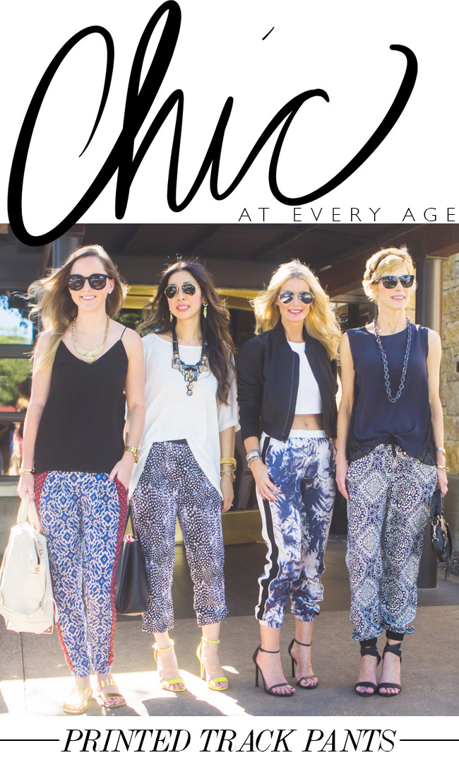 Chic at Every Age // Printed  Track Pants