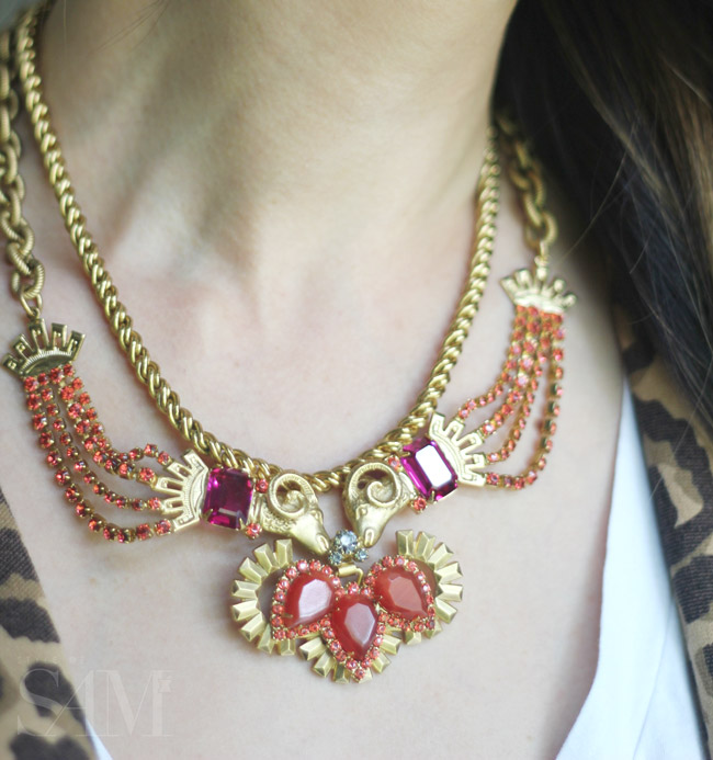 style of sam, elizabeth cole kissing rams necklace
