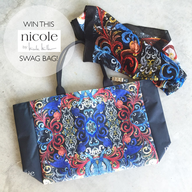style of sam, nicole by nicole miller swag bag