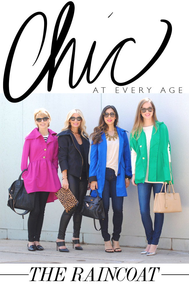 style of sam, chic at every age, she reigns raincoats, breast cancer awareness