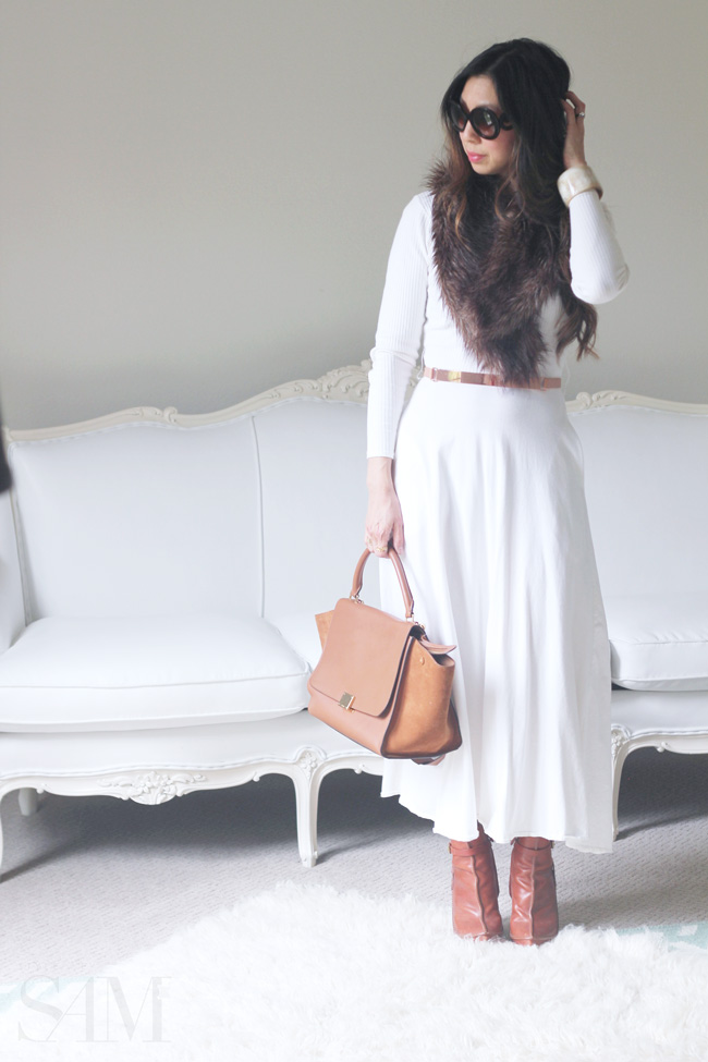 style of sam, from grandma with love, how to wear a white dress in fall/winter
