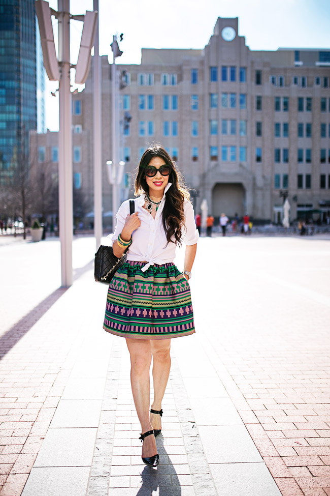 style of sam, msgm aztec skirt, what to wear to a sip and see or baby shower,LULU FROST absinthe necklace, spring ootd