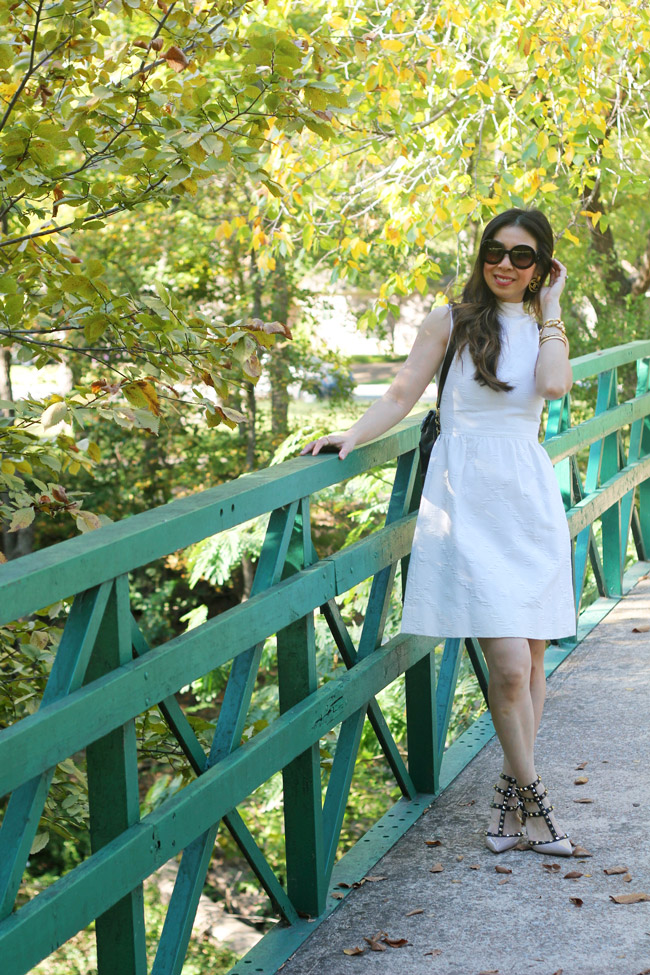 style of sam, from grandma with love, how to wear a vintage white dress in a modern way