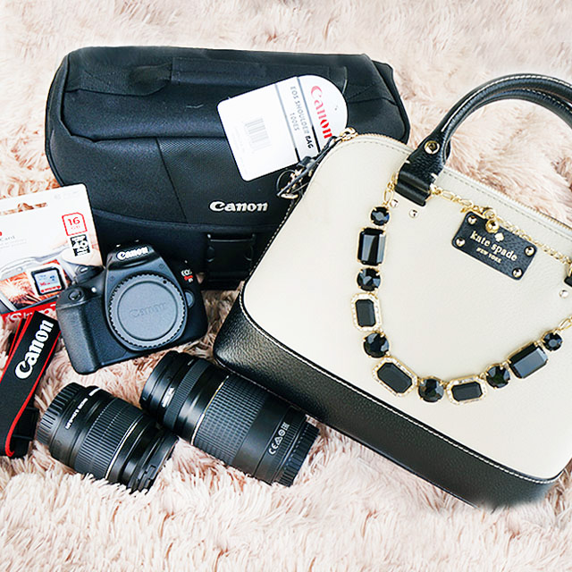 canon camera and kate spade bag giveaway