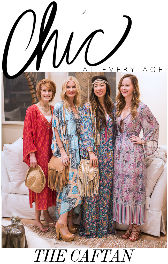 chic at every age, how to wear a caftan, bohemian chic outfits for the beach