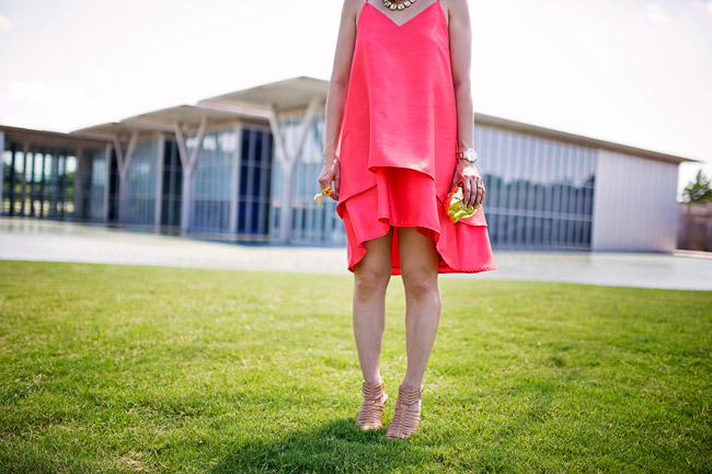 style of sam, cameo new day dress tangerine, what to wear to a summer wedding, style of sam