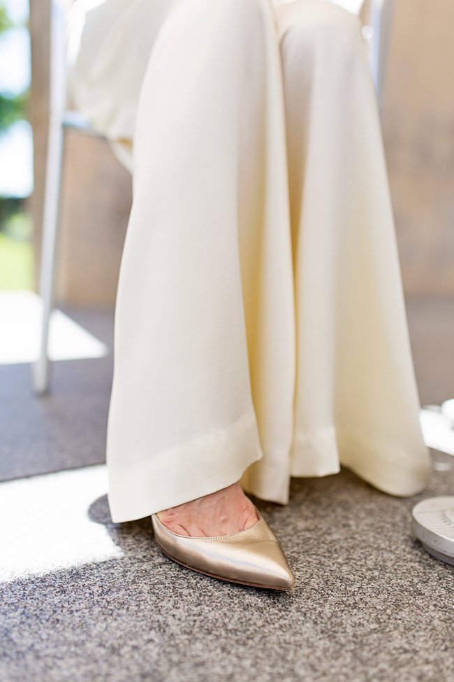 wide leg pant trousers, valentino gold pumps