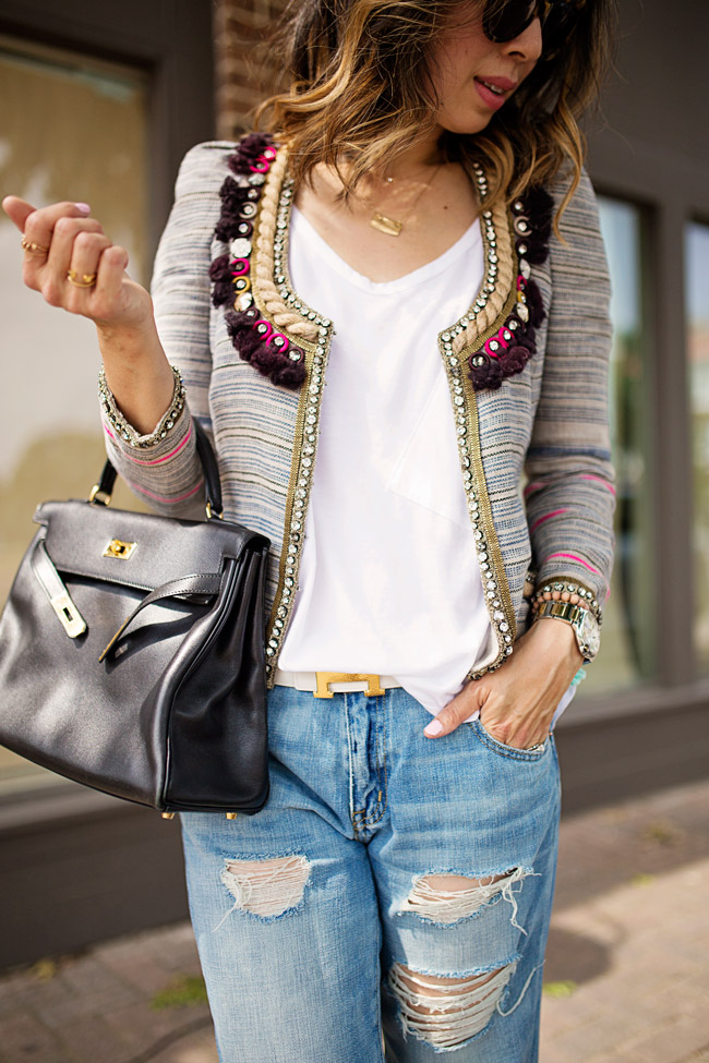 Boyfriend Jeans and Isabel Marant Flana Jacket