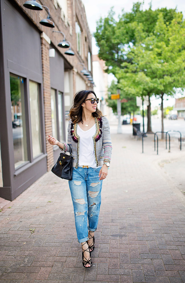 how to wear boyfriend jeans, isabel marant flana jacket, hermes kelly bag, aquazzura lola sandals