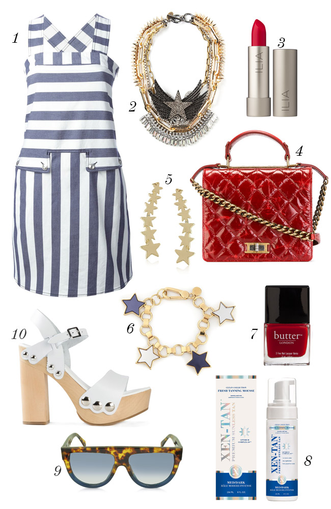 stars and stripes outfit idea, 4th of july patriotic outfit
