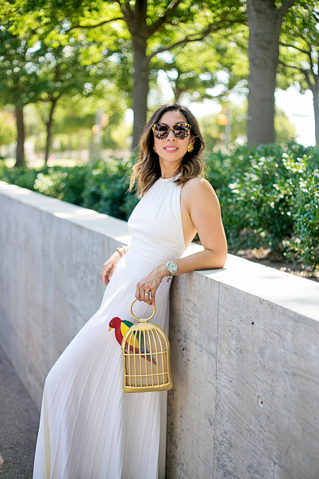 From Grandma with Love // White Pleated Maxi Dress