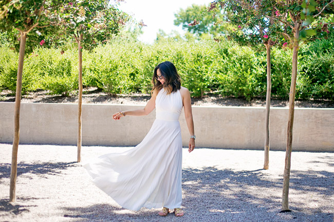 white pleated maxi dress, how to wear a maxi dress, cocobelle snake wrap sandals