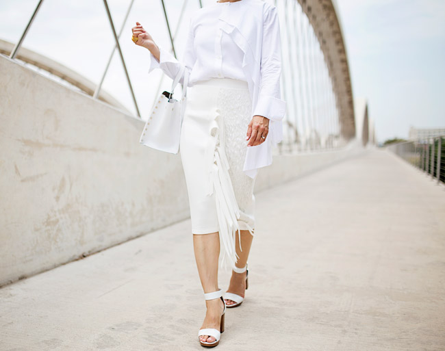 what to wear to diner en blanc, palmer harding pages top a/w 14, all white outfit