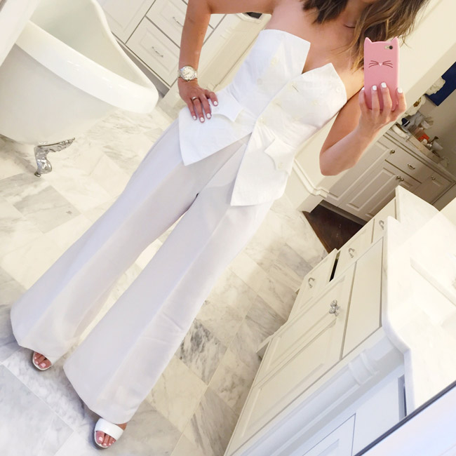 vintage christian lacroix bustier, what to wear to diner en blanc