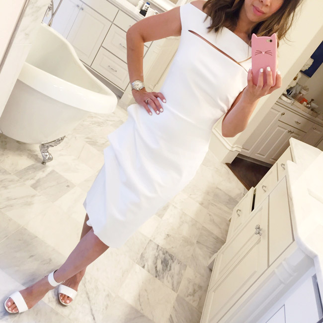 what to wear to diner en blanc, la petite robe di chiara boni off the shoulder dress