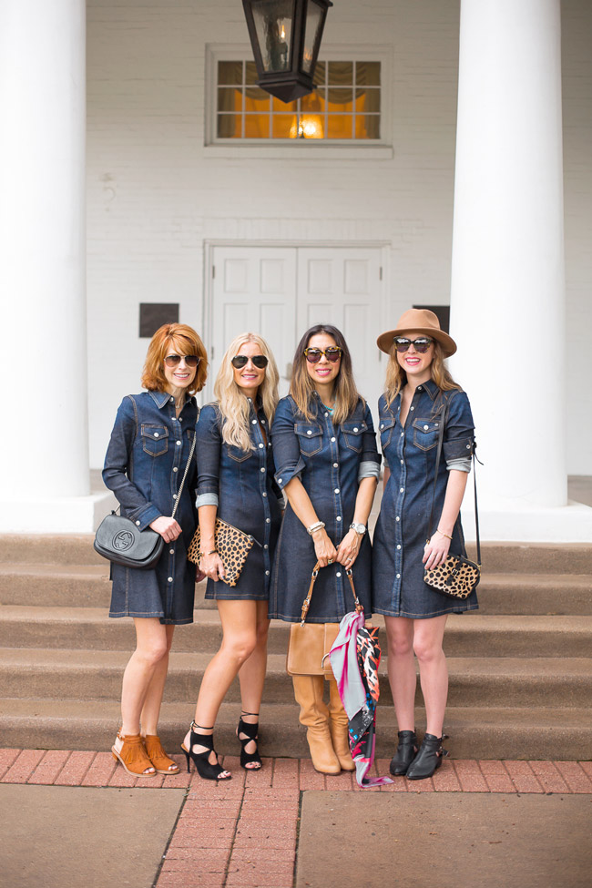 chic at every age, how to wear a denim dress, alexa chung for ag pixie denim dress