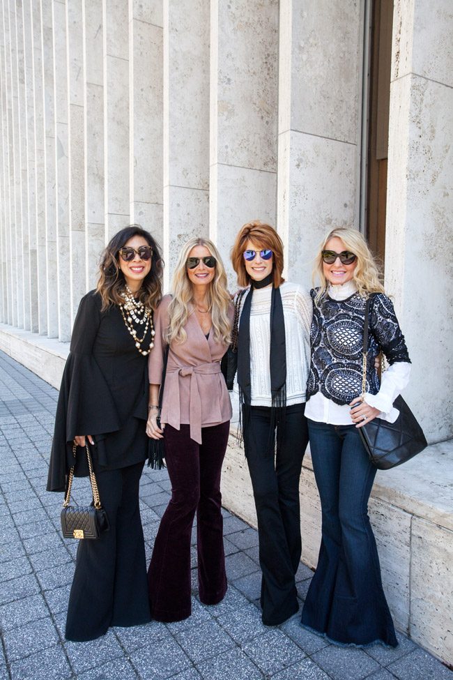 NYFW bloggers featuring flares, texas bloggers, how to wear flares