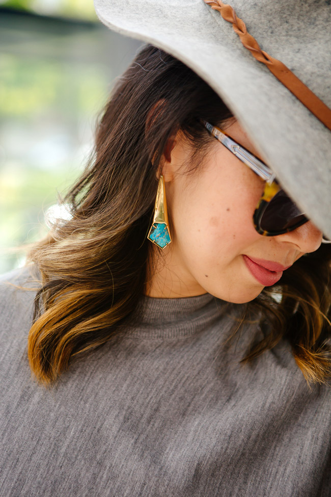 alexis bittar turquoise earrings