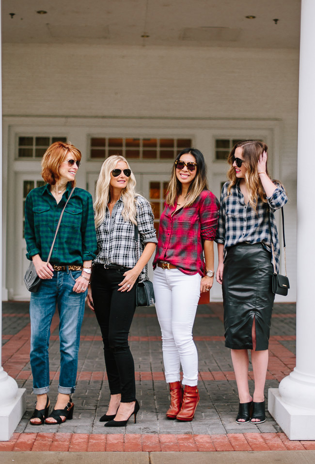 style at every age, how to wear plaid shirts, holiday plaid