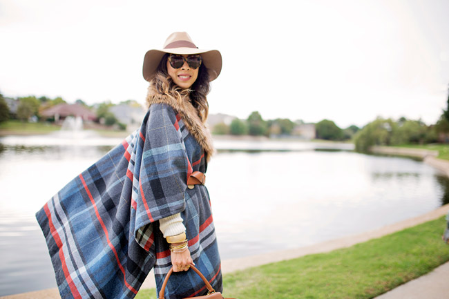 target plaid fur poncho, revove su2c brixton hat, how to layer for winter