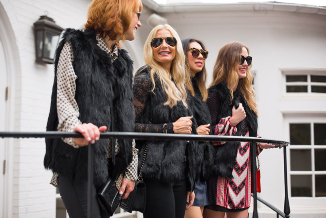 style at any age, how to wear a fur vest