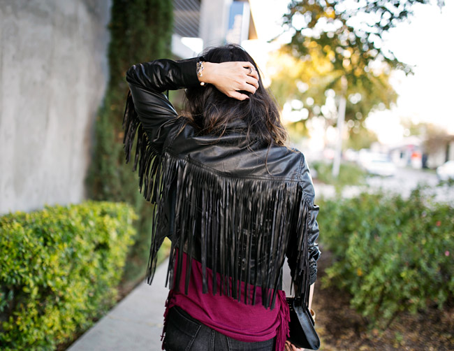 how to wear fringe, how to get dressed fast, dior so real sunglasses dupe, vera bradley studded clutch