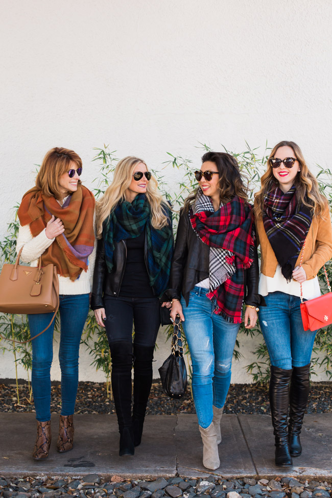 how to wear a blanket scarf, style at every age