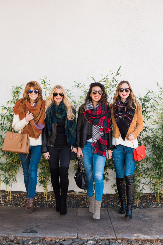 how to wear a blanket scarf, chic at every age