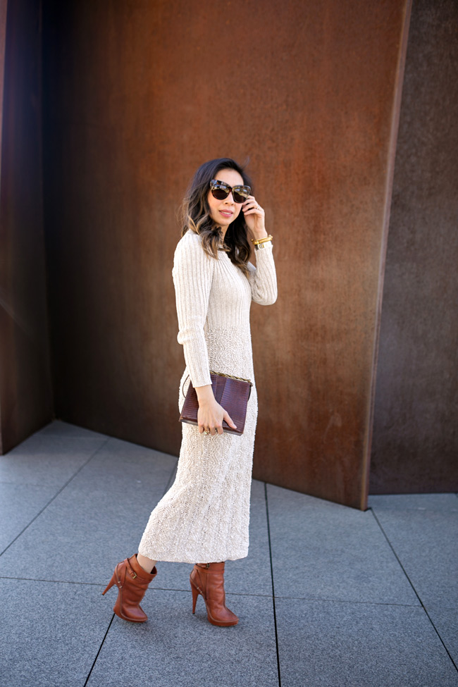 from grandma with love, irish linen dress, how to wear vintage, givenchy booties
