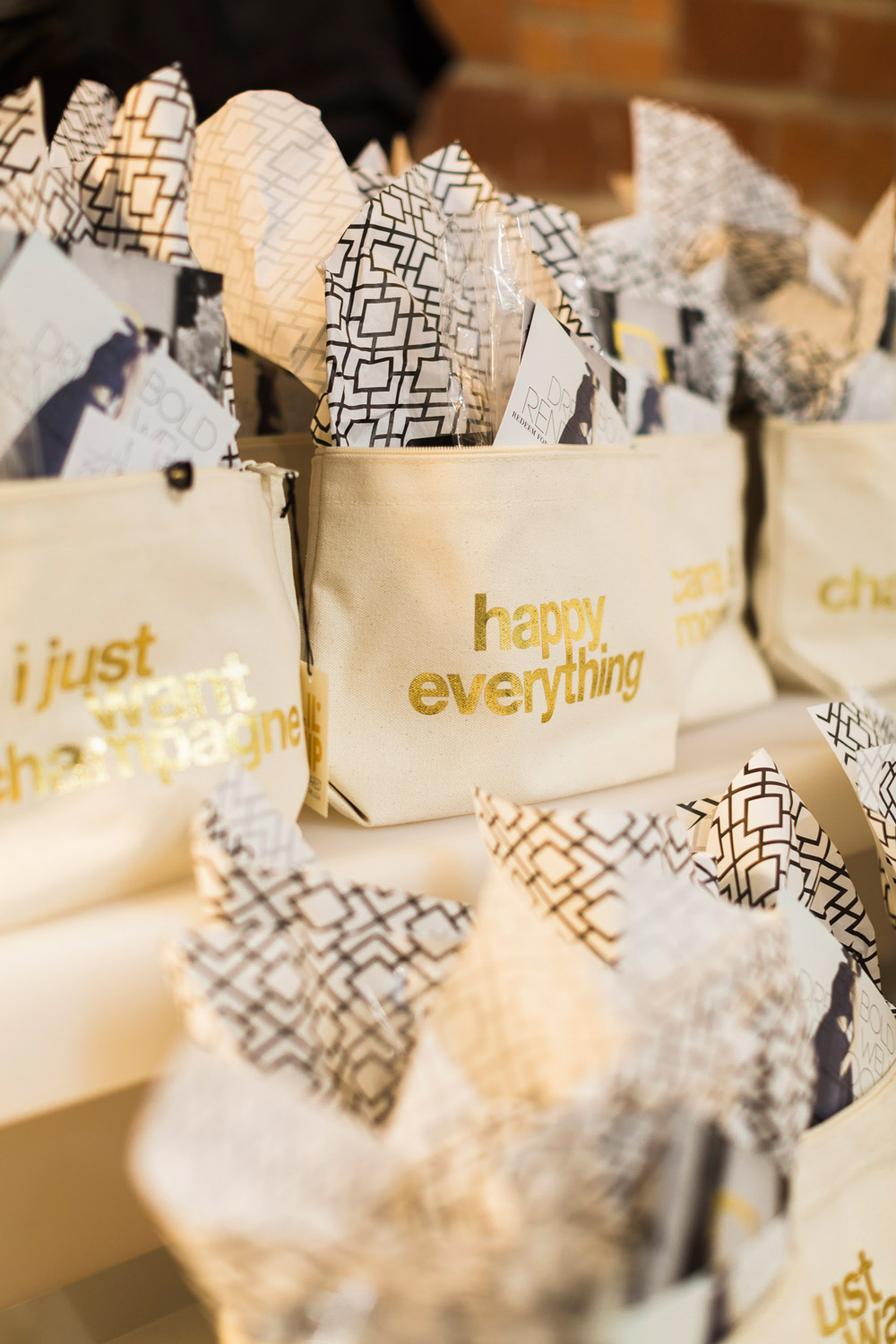 316 Design Source Event, happy everything dogeared bag