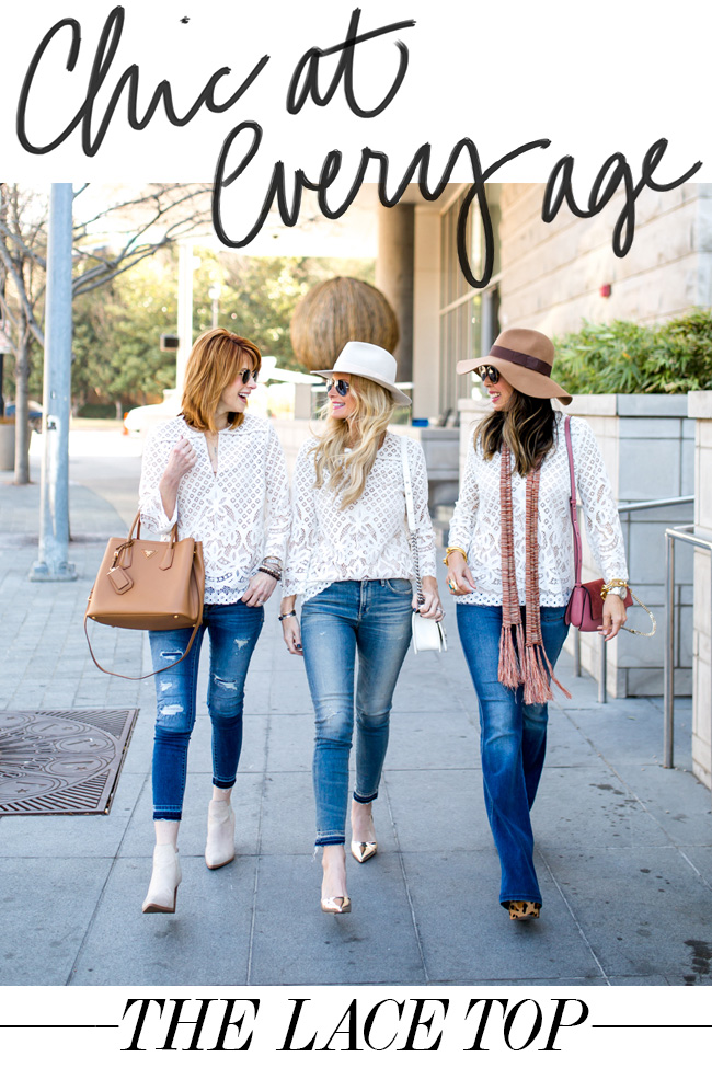 chic at every age, style at any age, how to wear a lace top