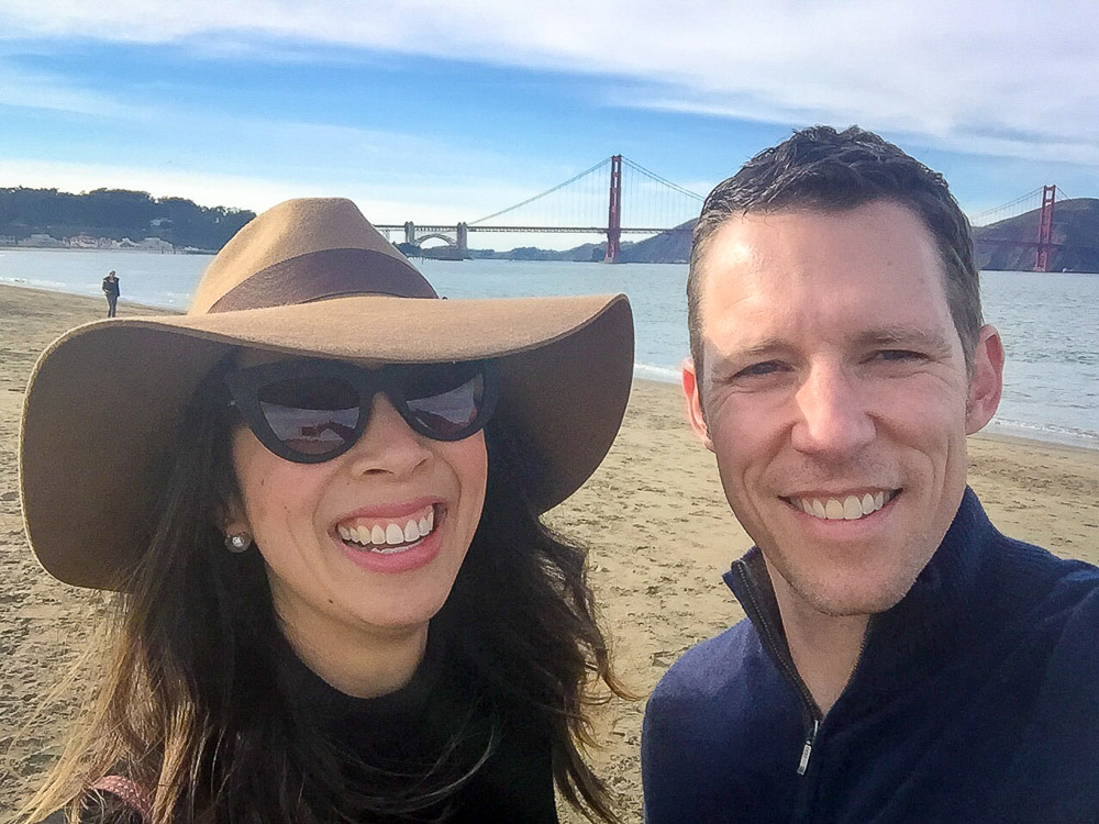 style of sam selfie, Brixton hat, chloe faye pink bag, san francisco bridge, crissy field