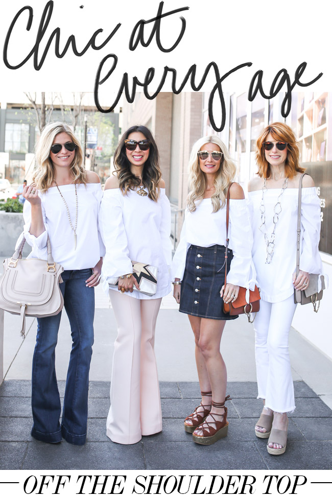 Chic at Every Age // Off the Shoulder Top