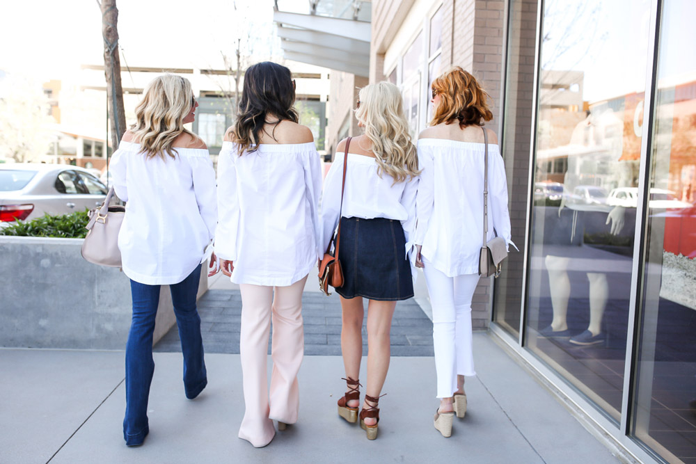 chic at every age, off the shoulder top at any age