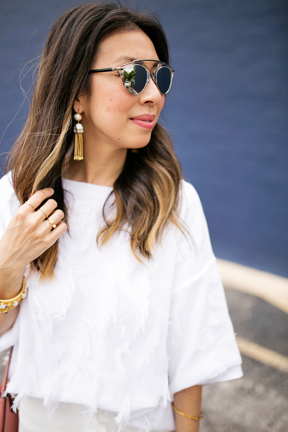 tassel earrings, dior so real dupe sunglasses