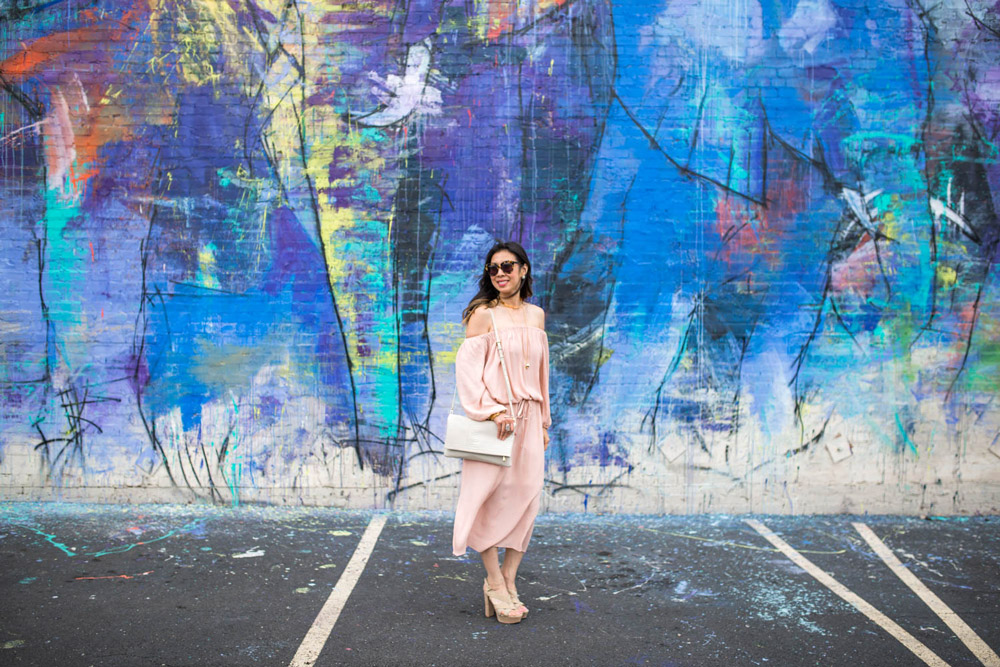 whowhatwear x target off the shoulder dress