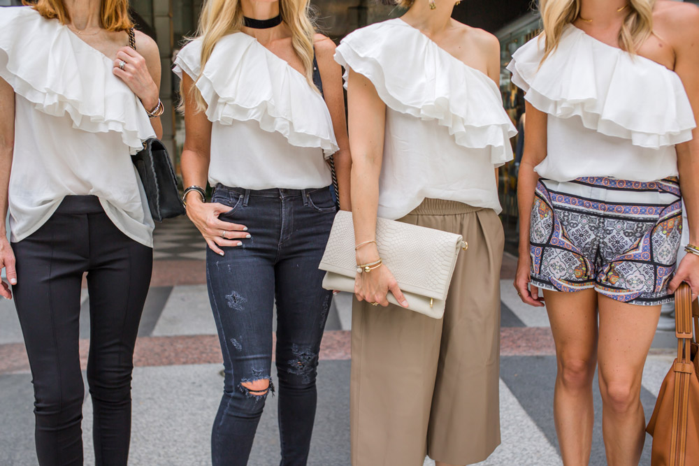 one shoulder ruffle top, style at any age