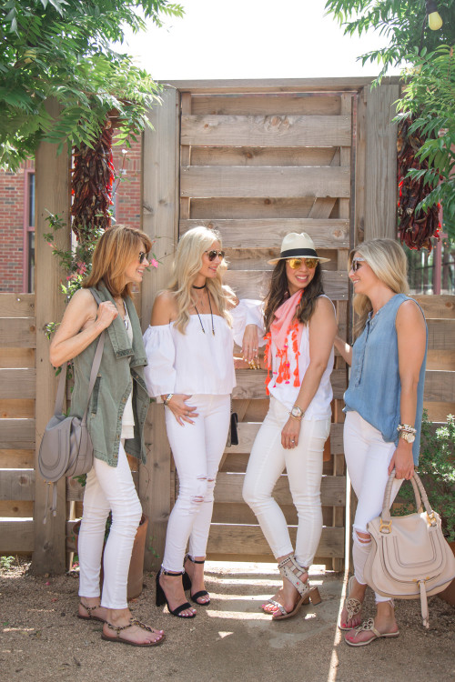 white denim outfit ideas
